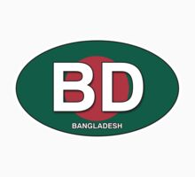 Bangladesh Flag Oval with ID Letters by Ovals