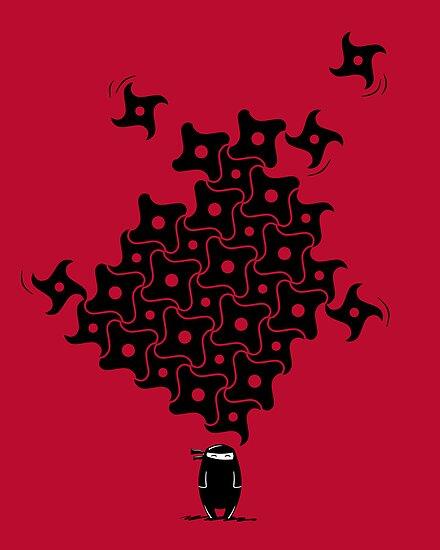 Ninja Tesselations by fishbiscuit