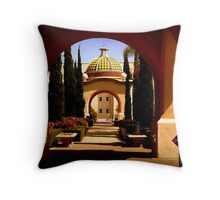 Through Arches Does Sunlight Play Throw Pillow