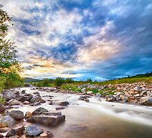 South Boulder Creek Sunset View Rollinsville Colorado by Bo Insogna
