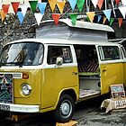 Colorful  Camper Van  by lynn carter