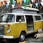 Colorful  Camper Van  by lynn carter