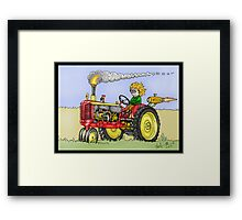 STEAMPUNK MASSEY HARRIS STYLE FARM TRACTOR Framed Print