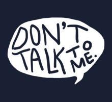 don't talk to me by typographical