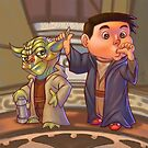 Two of a Kind...Jedi! (Digital illustration) by Anthony Mata