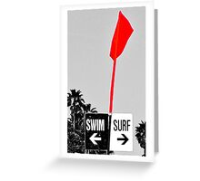 Look For The Swim Surf Sign Greeting Card