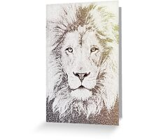 The Intellectual Lion Greeting Card