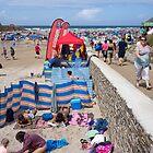 crowded beach by Anne Scantlebury