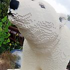 Lego polar bear by linwatchorn