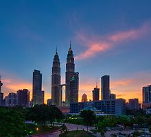 KLCC at Sunset by Nur Ismail Mohammed