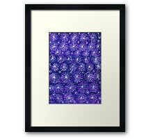 Starry Night Handmade Abstract Background Framed Print