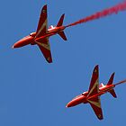 Red Arrows - Hawk T1  2/3 by Neville Hawkins