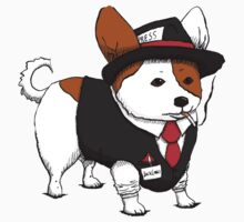 Jack Corgi, journalist. by Illustrationetc