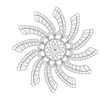 Dreamcatcher Mandala - Card - Color Your Own by TheMandalaLady