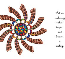 Dreamcatcher Mandala - Card - Full-Color w/Msg by TheMandalaLady
