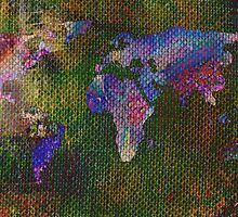 Fabric World On Buttons by ArtByRuta