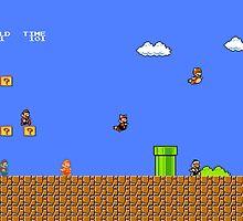 The Many Faces of Mario by jmirvish