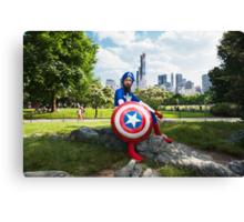 Captain America in Central Park Canvas Print