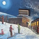 Welcome Skiers by Sandra Fortier
