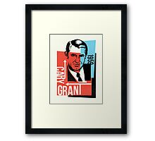 Original Graphic Design Portrait of Cary Grant  Framed Print