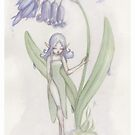 Flower Fairy - Blue Belle  by Lily McDonnell