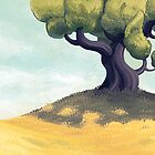 Tree on the Hill by etall