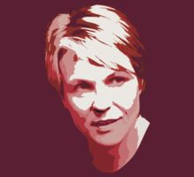 Tanya Plibersek - light pixels for dark red background by portispolitics