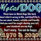 1970 2030 Chinese zodiac born in year of Metal Dog  by Valxart