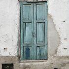 Black Dog and Blue Door by rhamm