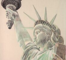 Liberty which illuminates the world by Peter Brandt