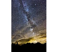 The Mountains at Night Photographic Print