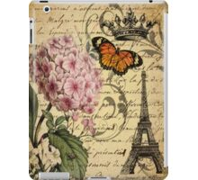 vintage paris hydrangea floral botanical art  iPad Case/Skin