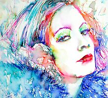 GRETA GARBO - colored pens portrait by lautir