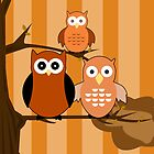 Orange Owls by Adamzworld