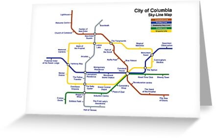 Bioshock Infinite - Columbia Sky-Line Map by chubbyblade