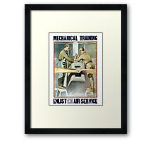 Enlist In The Air Service -- WW1 Framed Print