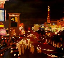 Las Vegas Strip at Night by artshop77