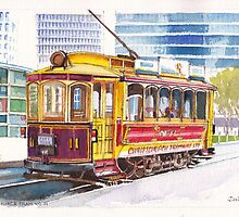 Christchurch Number 11 Tram by Dai Wynn