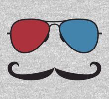 3D Glasses and Mustaches by contoured