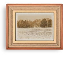 Wide Country Christmas ... with a matted and framed look Canvas Print