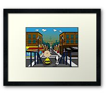 Real Life View Framed Print