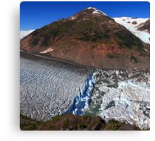Glacier breaks Canvas Print