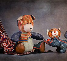 Still Life #31 - Sapa Bear & Cat  by Malcolm Heberle