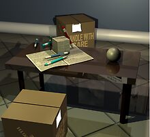 Office cubes and sphere by petellgra
