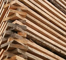Angled Boards at a Sawmill by rhamm
