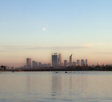 Perth, WA from Deep Water Point by pennyswork