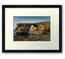 The Azure Window, Malta Framed Print
