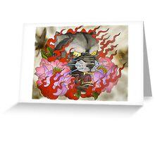 Flaming Panther Greeting Card