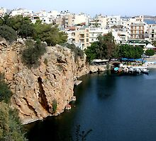 View of the Water Inlet on the Island of Crete in Greece 8 by JaguarJulie