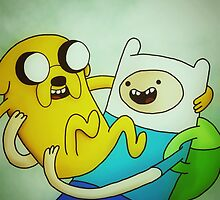 Adventure Time, Jake and Finn by MadeleineJane